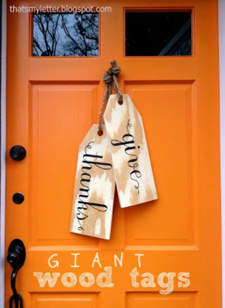 Thanksgiving - DIY - Fall door decor