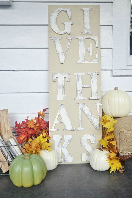 Thanksgiving - DIY - Rustic sign