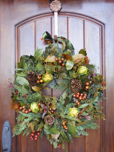 Thanksgiving - Front door - Fall wreath - Schlage