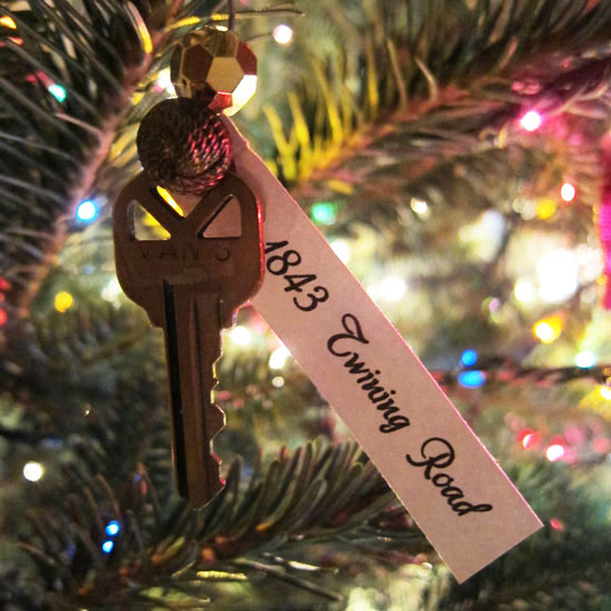 First house key ornament.
