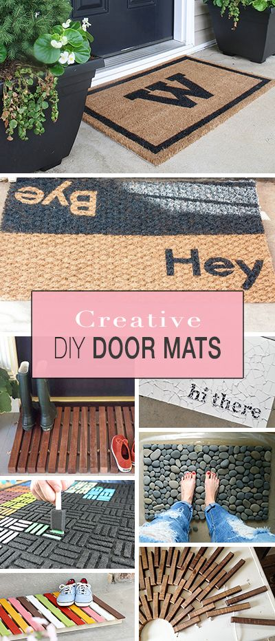 Fun Spring Doormats: 11 DIY Curb Appeal Projects To Help You Kickstart Spring