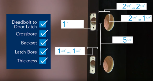 How to Prepare Your Front Door to Install a Deadbolt Lock | Schlage