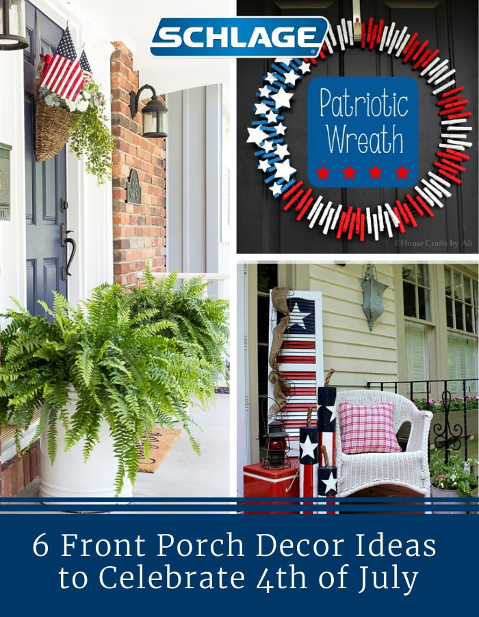 4th of July front porch decor.