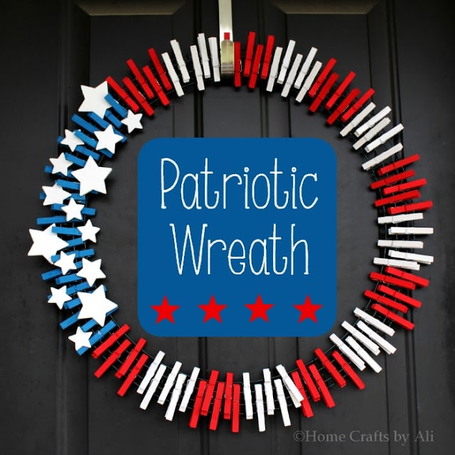 DIY patriotic wreath.
