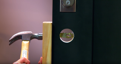 How to install a handleset on your front door - Installing a lock on a bedroom door ...