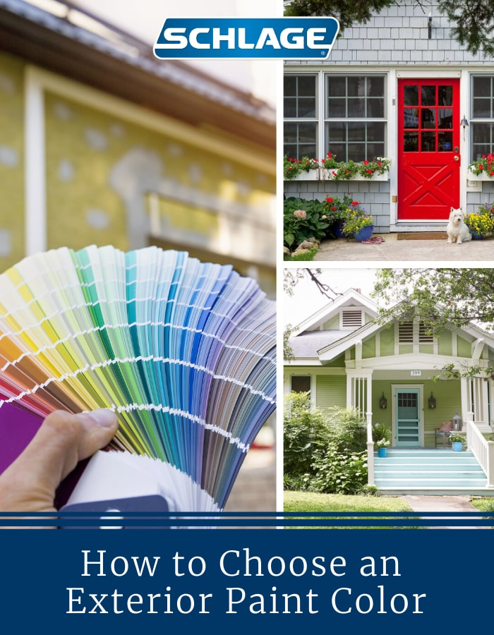 How to choose an exterior paint color.