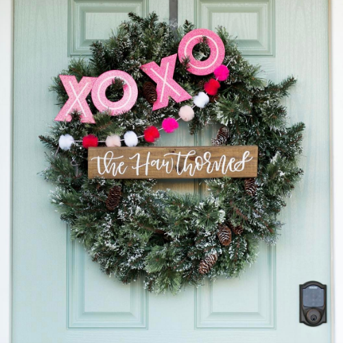 valentine wreaths for your front door5 simple ways to decorate your front door for Valentines Day