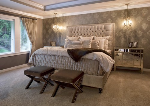Glam bedroom decor
