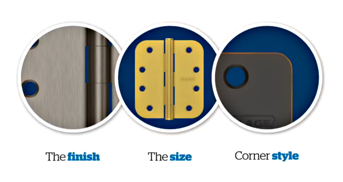 Replacement door hinges | Schlage