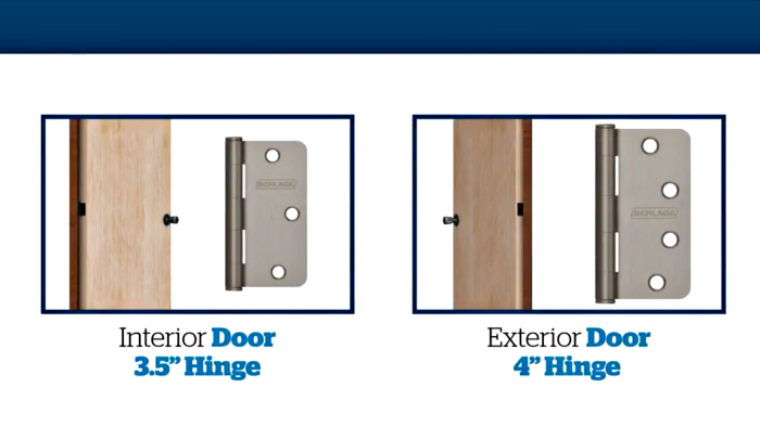 Door hinge sizes | Schlage