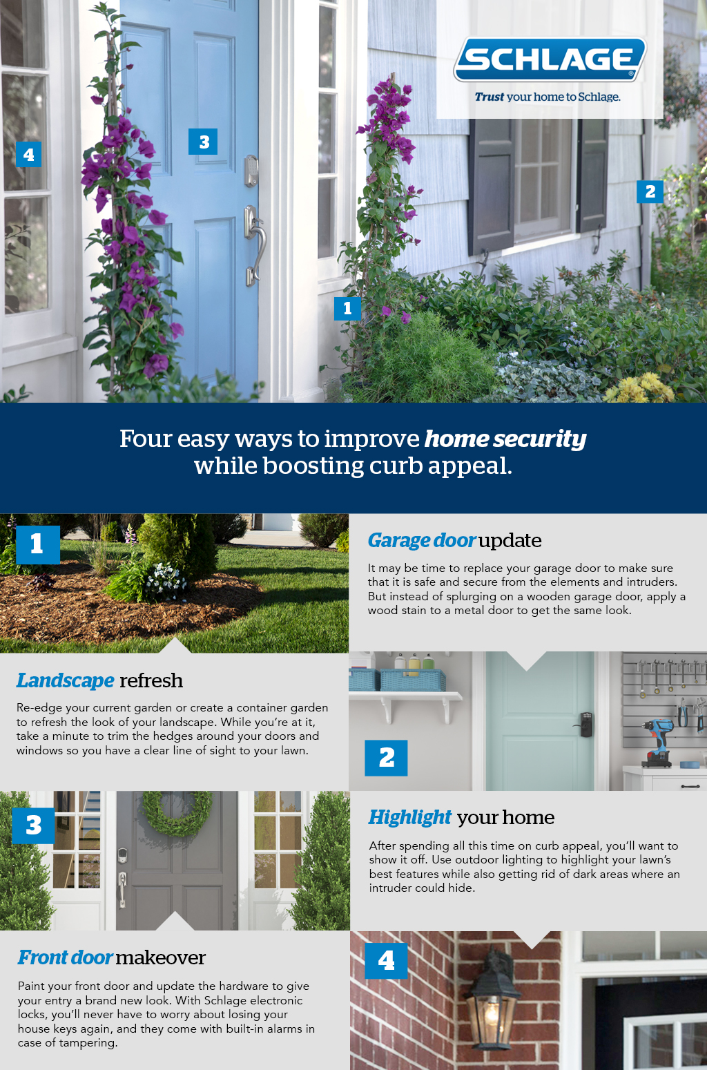 Improve home security while boosting curb appeal