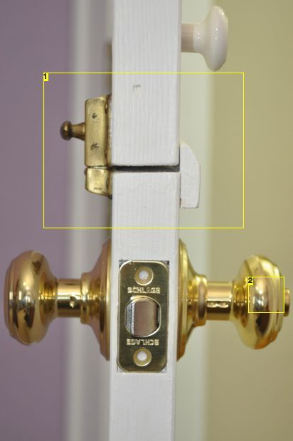 Dutch door latch - Door knob - Bright Brass - Schlage