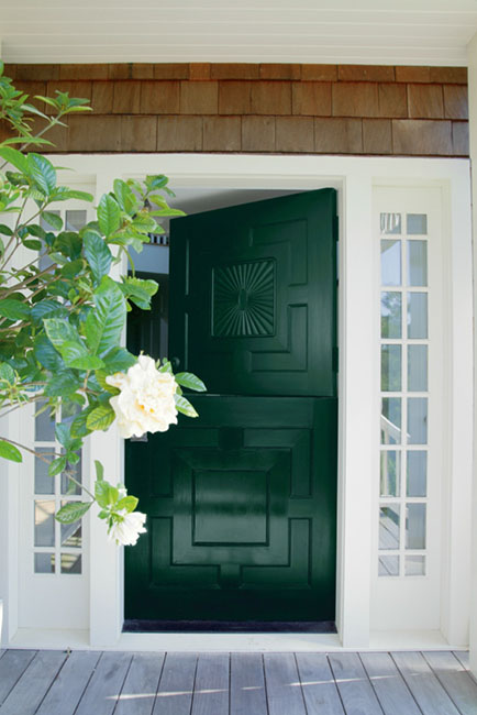 7 reasons to consider dutch doors for your home for Dark forest green paint