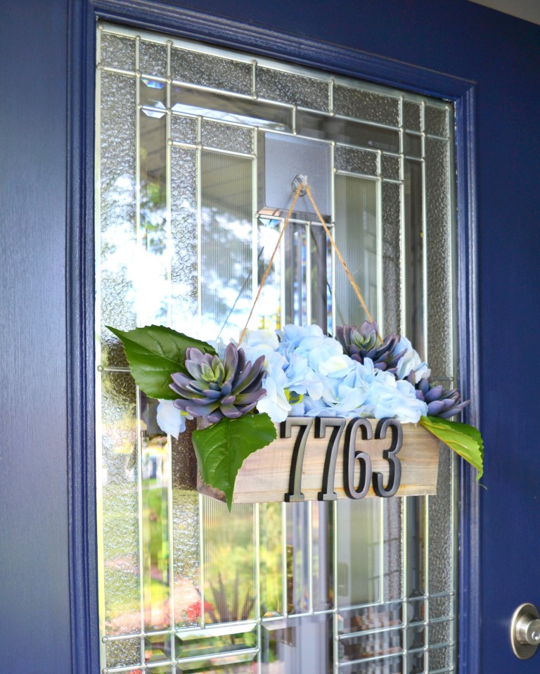 Front Door Decor - Summer - DIY Address Planter