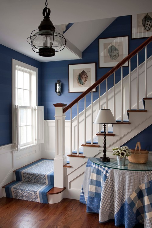 Summer Foyer - Entryway Storage Ideas