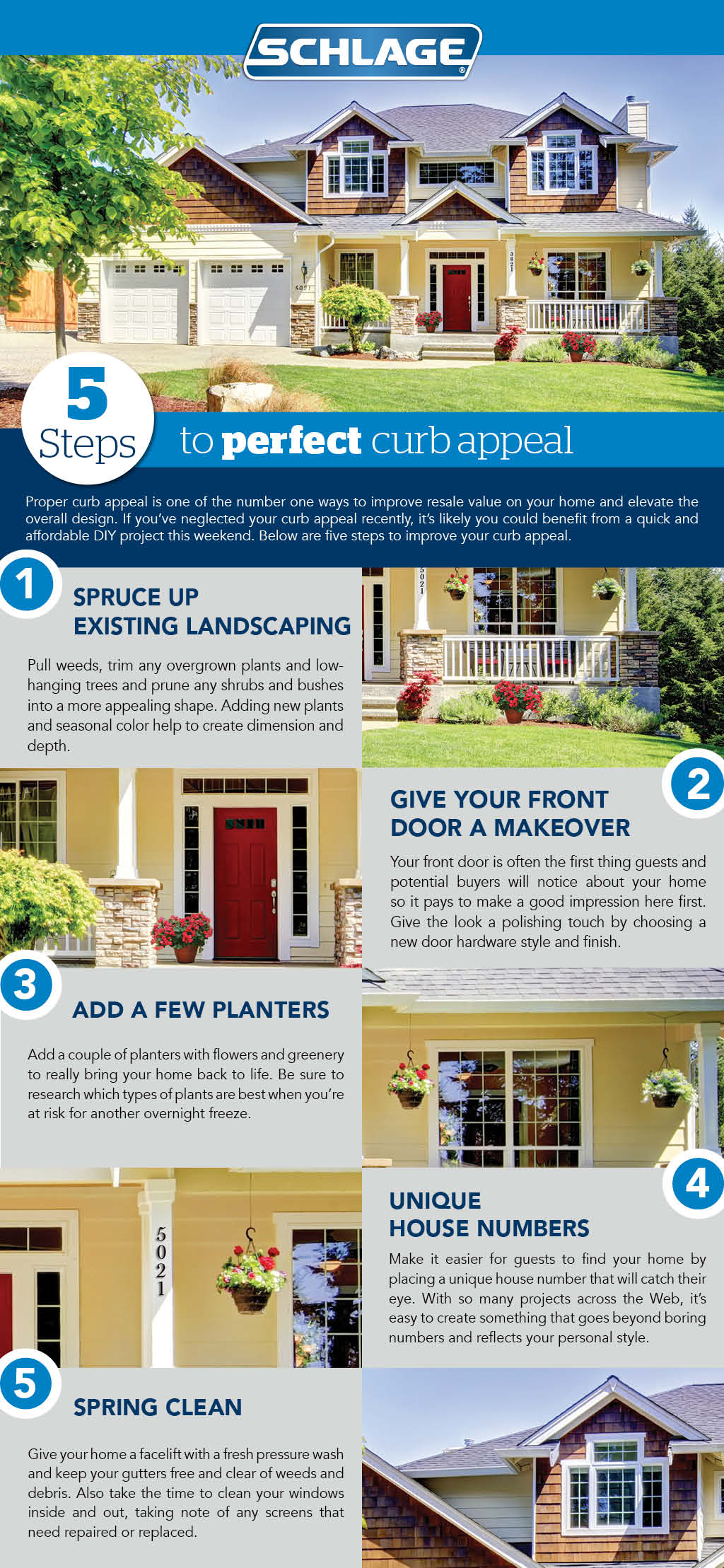 5 steps to perfect curb appeal | Schlage