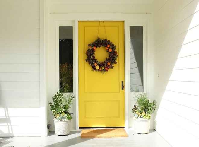Fall wreath - Door decor - Citrus wreath - Schlage