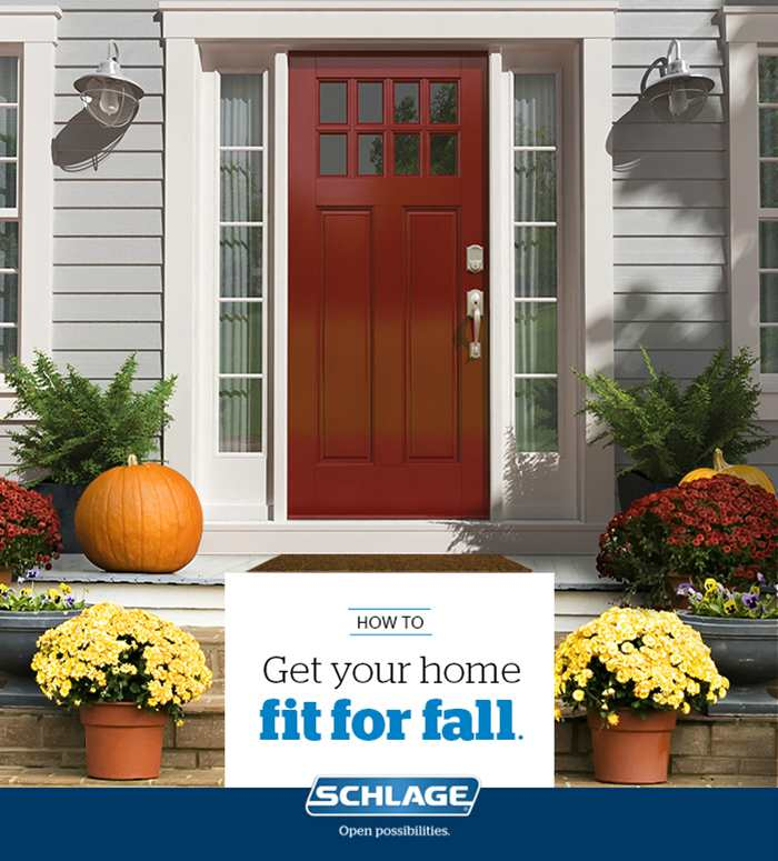 Fall Curb Appeal - Handlesets - Schlage