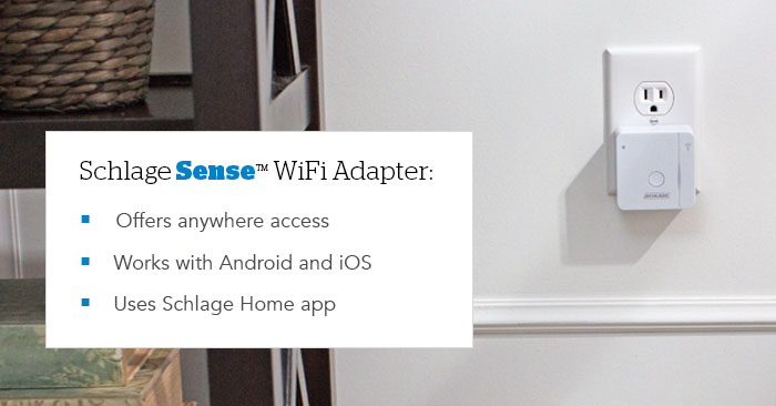 Smart lock - Remote access - Wi-fi Adapter - Schlage Sense