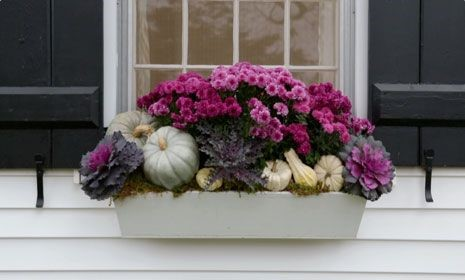 Fall color palette - Purple porch decor - Schlage