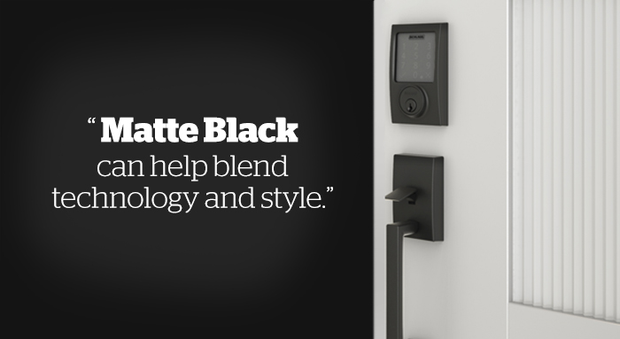 Matte Black  - Technology - Schlage Sense with Century trim - Century Handleset