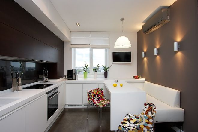 Mixed materials - Kitchen - Grey cabinets