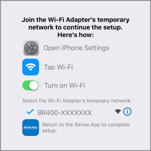 Schlage Sense Wi-Fi Adapter - Set up - iOS