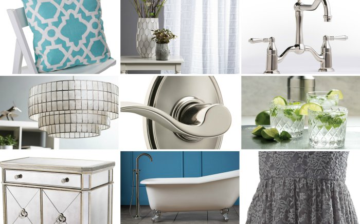 Mood board - Glam style - Polished Nickel - Schlage