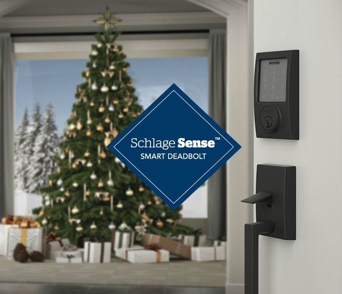 Holiday curb appeal - Smart lock - Schlage Sense Smart Deadbolt