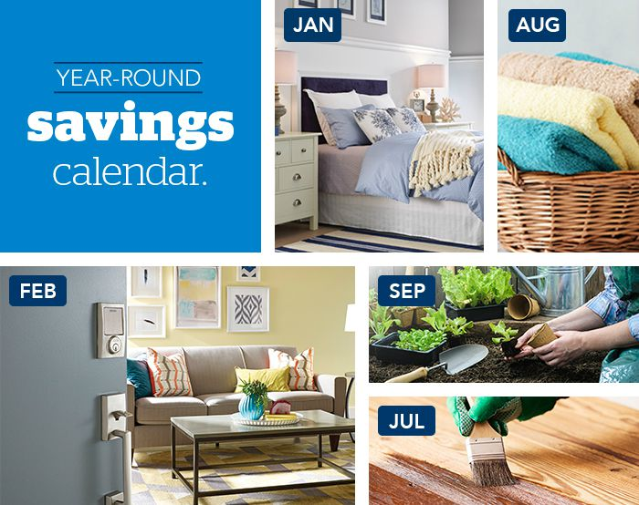 Home goods savings calendar - Schlage