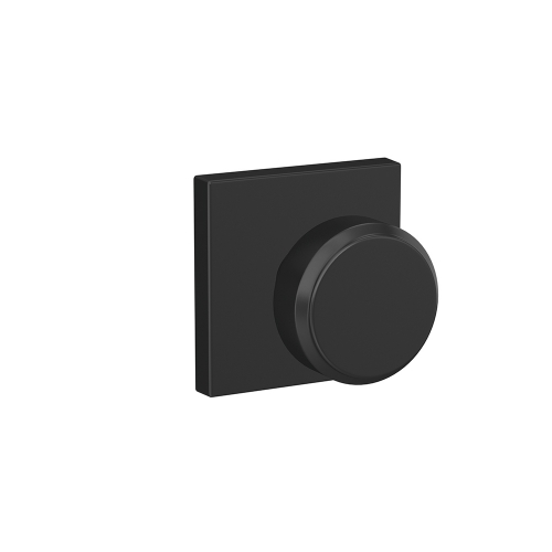 Industrial Modern   Door Knob   Bowery Knob   Matte Black Finish   Schlage