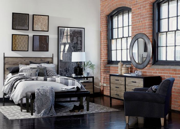 Industrial modern bedroom - Matte Black - Schlage