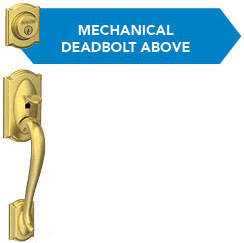 3 bore holes - Mechanical deadbolt - Schlage