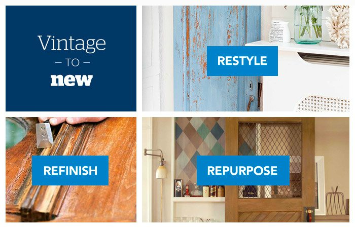 DIY tips - Vintage door makeover - Schlage