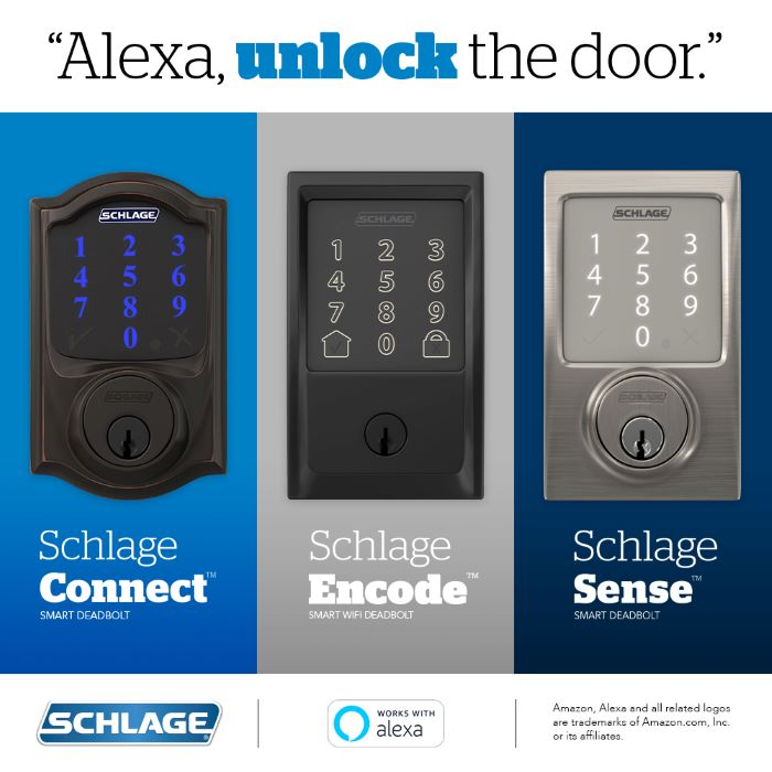 Schlage Smart Locks Gain Amazon Alexa Voice Unlocking