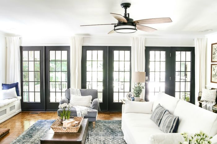 Black french doors - Paint hack - Makeover