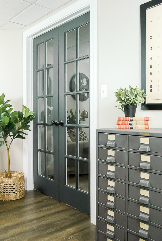 French doors - Dark grey