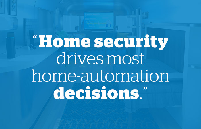 Home security drives most home automation decisions. - Schlage