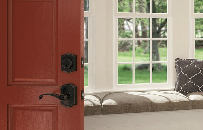 Farmhouse Door Hardware - Whitney Lever - Schlage Custom