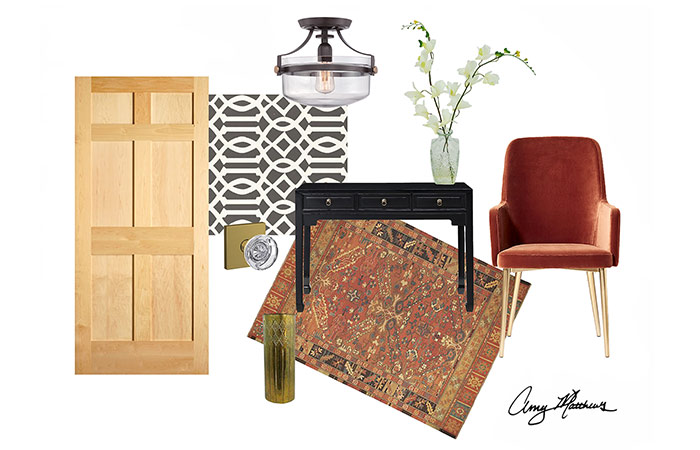 Eclectic, vintage style - Mood board - Amy Matthews - Schlage Custom