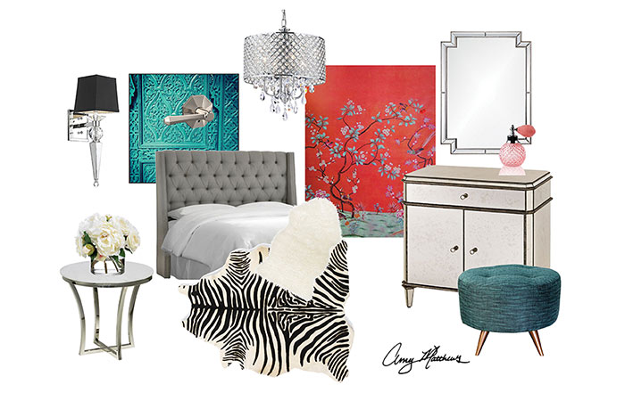 Hollywood Regency - Mood board - Amy Matthews - Schlage Custom
