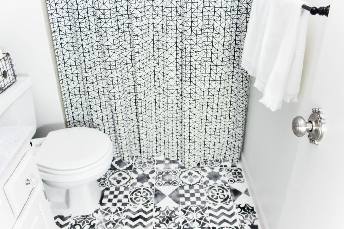 Eclectic Bathroom Makeover - Refashionably Late - Schlage