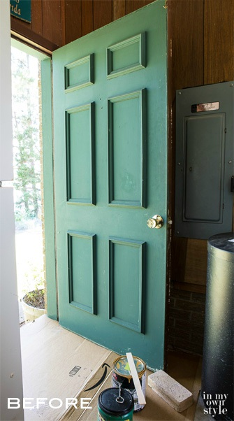 Exterior Door Makeover - In My Own Style - Schlage