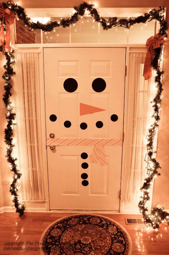 Holiday - Interior Door Decor - Snowman