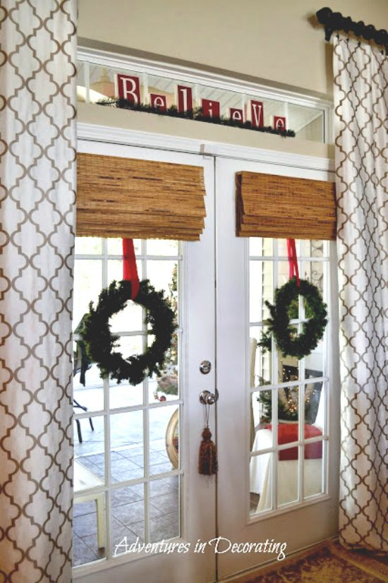 Holiday - French Door - Double wreath