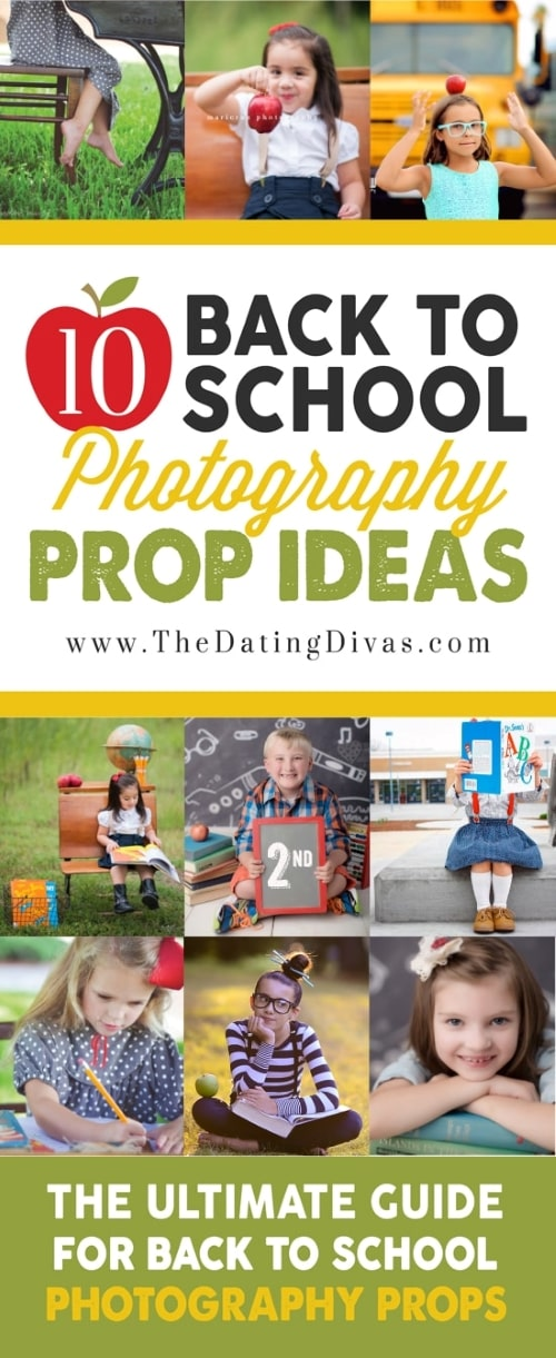 Back to school prop photo ideas