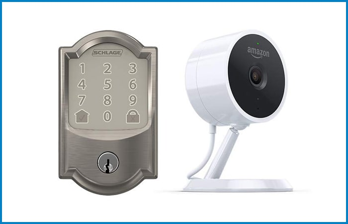 Schlage Encode Smart WiFi Deadbolt and Amazon Cloud Cam