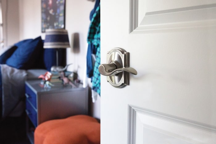 Schlage Accent lever on bedroom door.