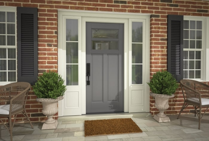 Schlage Custom 3/4 trim on front door.