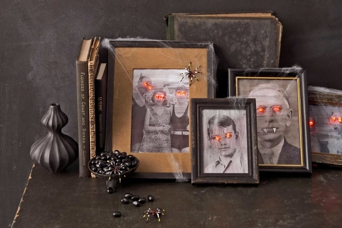 DIY spooky old portraits.